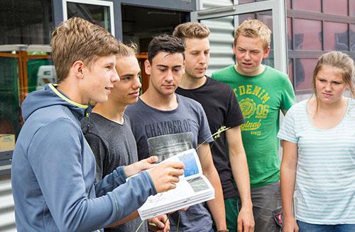 Auszubildende der Landwirtschaft der Justus-von-Liebig Schule Aalen